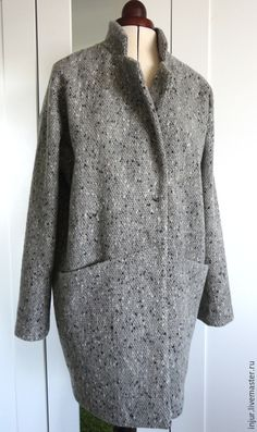 Купить Пальто. Пальто-кокон. Пальто-оверсайз. - серый, пальто, пальто-кокон, пальто-оверсайз Coats For Women, Jackets For Women, Cocoon Dress, Apron Dress, Blazer, School Fashion, Up Girl, Dress Patterns, Cool Outfits