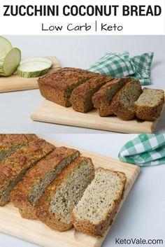 Low Carb Zucchini Coconut Bread