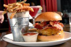 Burger and Fries at Tico.