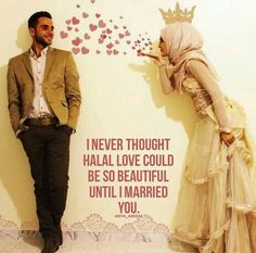 Islamic Quotes on Love - Discover of beautiful & Motivational Collection of Islamic Love Quotes & Sayings in English with images. These love quotes will answer you if is love marriage allowed in Islam or not? Islamic Quotes On Marriage, Muslim Couple Quotes, Islam Marriage, Muslim Love Quotes, Cute Muslim Couples, Love In Islam, Beautiful Islamic Quotes, Love And Marriage, Islamic Wedding Quotes
