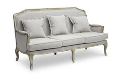 Wholesale Interiors - Baxton Studio Constanza Classic Antiqued French Sofa - TA2256-SF-Beige