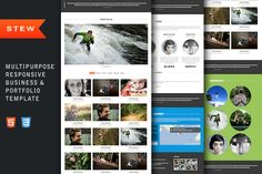 Bootstrap Themes ~ Stew - Responsive Portfolio Template by themio ~ Creative Market more on http://html5themes.org