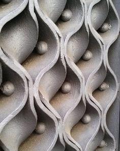 Palau Guell gate detail. Astounding ceramics