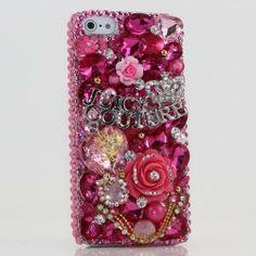 iphone 5 5S Luxury 3D Swarovski Pink Juicy Crystal Bling Case Cover (100% Handcrafted by BlingAngels) by BlingAngels, http://www.amazon.ca/dp/B00BLFB1GA/ref=cm_sw_r_pi_dp_91Hjtb0B828VP