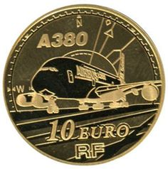 Currently at the Catawiki auctions: France - 10 Euro 2007 Europe Airbus A380 gold