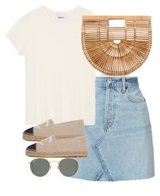"""""""Untitled #5647"""" by theeuropeancloset on Polyvore featuring RE/DONE, Ray-Ban and Cult Gaia"""