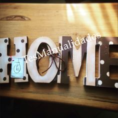 Block letters HOME by TesManualidades FB