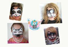 Panda Bär, Wolf und Zebra - black and white Kids--Paint