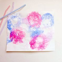 Your little one will love blowing colorful bubbles to create this popping craft. And this craft is perfect ...
