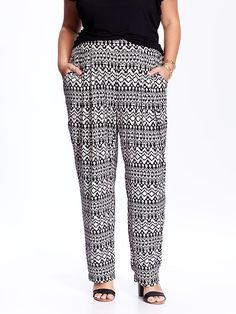 Women's Plus Patterned Soft Pants Product Image