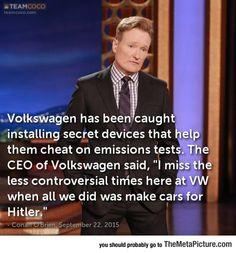 Conan On Volkswagen's Scandal