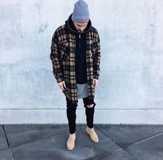 89 Cool Modest Winter Outfits For Men Street Style # Style Casual, Swag Style, Men Casual, Men's Style, Casual Wear, Modest Winter Outfits, Winter Outfits Men, Fresh Outfits, Chelsea Boots Outfit