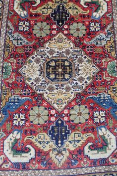 Old Hand Knotted Persian Tabriz Rusty Red Rectangle mat Circa 1930 #Persian