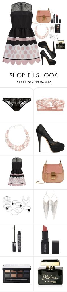 """Outfit #154"" by fran-peeters ❤ liked on Polyvore featuring Deborah Marquit, I.D. SARRIERI, Poppy Jewellery, Charlotte Olympia, RED Valentino, Chloé, Jules Smith, Topshop, Smashbox and NARS Cosmetics"