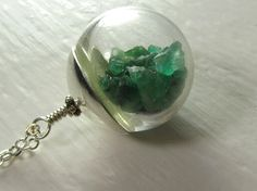Unique Real Emerald Keepsake Necklace  Emeralds by NaturalGorgeous, $75.00