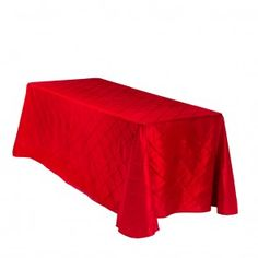 90 x 132 in. Rectangular Pintuck Tablecloth Red