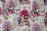 Red riding hood fabric, it's even got the big bad wulf in it!