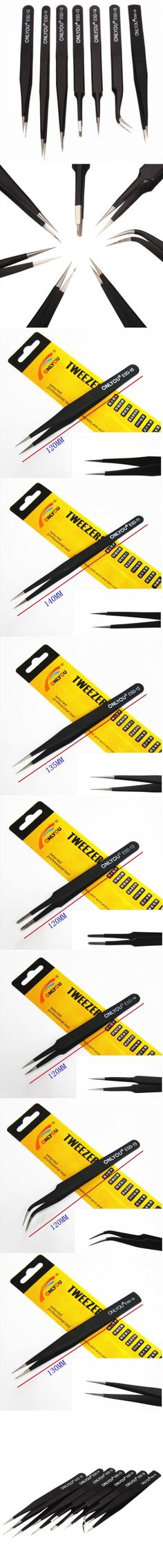 7pcs BGA Precision Tweezer Set Antistatic Tweezers Stainless Tweezers