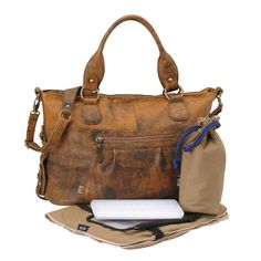 OiOi Wickeltasche aus Leder The Tote Jungle Slouch