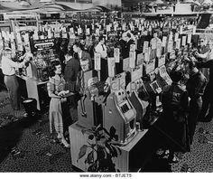 Slot machines at a casino in Las Vegas, Nevada