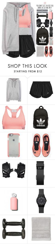 """""""#805 Fitness."""" by giulls1 ❤ liked on Polyvore featuring T By Alexander Wang, NIKE, adidas, adidas Originals, Fitbit, bkr, Sonoma life + style, Under Armour, women's clothing and women"""
