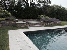 Raised spa with stone veneer Nantucket