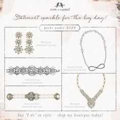 The perfect sparkle for the perfect bride!  www.chloeandisabeldesigns.com  On…