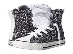 Converse Kids Chuck Taylor® All Star® Party Star Print Hi (Little Kid/Big Kid) Black/White - Zappos.com Free Shipping BOTH Ways