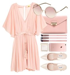 """""""Sweetheart"""" by smartbuyglasses-uk ❤ liked on Polyvore featuring Marc Jacobs, Dune, Jouer, Pink and chloe"""