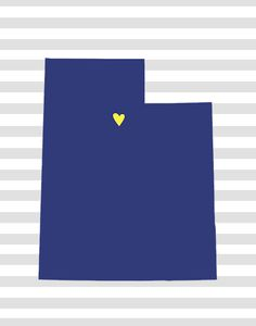 free printable i love utah print! also available: arizona, cali, nevada, etc