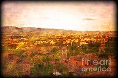 """Vintage Landscape Florence Italy"" by Femina Photo Art @FineArtAmerica @Maulshri Shah Dube Photo Art by Maggie Vlazny #reds #redLandscape #redLandscapePrint http://feminaphotoart.artistwebsites.com/featured/vintage-landscape-florence-italy-femina-photo-art.html"