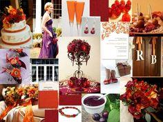 Weddington Way Instagram feature- purple and orange wedding colors ...