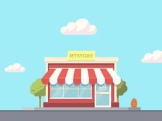 Corner Shop Animation explainer video vector illustration animated gif store shop illustration after effects motion graphics animation Anim Gif, Animated Gif, Logos Tattoo, Vector Animation, Frame By Frame Animation, First Animation, E Motion, Web Design, Flat Illustration