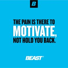 """The Pain Is There To Motivate, Not Hold You Back."" #Fitness #Motivation #FitFam #Squats #Fiterest"