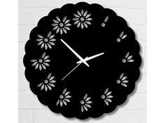 Horloge design laqué noir Crazy 40 cm