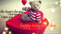 Teddy Bear Day 2014 Greetings - Teddy Sitting on Heart