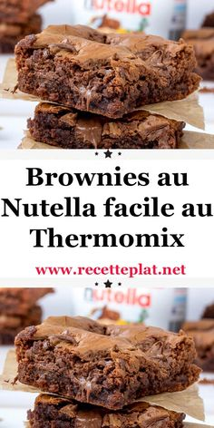 Thermomix Brownies, Thermomix Desserts, Easy Desserts, Desserts Nutella, Nutella Brownies, Lidl, Cherry Jam Recipes, Soft Chocolate Chip Cookies, Cooking Chocolate
