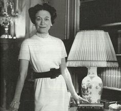 """c.1950  The Duchess was a petite woman, with a very trim figure. She had the tiniest waist I had ever seen. Her hair was jet black and cut short. It was becomingly coiffed, parted in the middle, and drawn off her face in soft waves. It was the same familiar hairstyle she wore throughout her life. She had high cheek bones, lovely violet blue eyes and a very warm personality. She spoke with a slight British accent, and I thought she looked more intriguing than beautiful."""""""