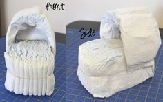 It's been awhile since I have written a tutorial. I just may have forgotten how, but I will give it my best shot! :)A long time ago I saw a photo of a Diaper Bassinet on Someday Crafts. The original didn't have a tutorial, but I thought it was such a cute idea that I wanted to give it a try.Here...