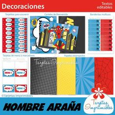 decoraciones-spiderman-para-imprimir