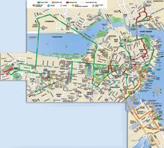 Trolleytourscom Boston Old Town Trolley Route Map USA - Boston usa map