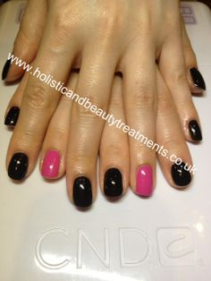 CND Shellac: Blackpool is updated with a flash of Hot Pop Pink - a thoroughly modern look from www.holisticandbeautytreatments.co.uk