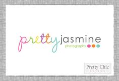 Premade Polka Dot Photography Branding Logo Design by PrettyChicDesign
