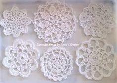 Resultado de imagen para crochet tapetes redondos endurecer para pantallas