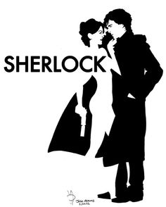 Sherlock & Irene by Josh Adams. I hated this episode, but the artwork is really nicely done.