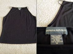 """Banana Republic Size: M black boatneck, matte jersey knit, sleeveless tank $9 - Find it by going to www.LoyalRoyaltyPro.com, click on the """"Miss Anthropy's Boutique"""" link on the left sidebar and click on one of the hyperlinks that say """"Miss Anthropy's Boutique"""" to be taken to all of my eBay auctions including the one below! Don't forget to check out the other content on www.LoyalRoyaltyPro.com as well!"""
