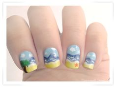 Miss Emma's blog: Battle Sunday Nail - Summer is here