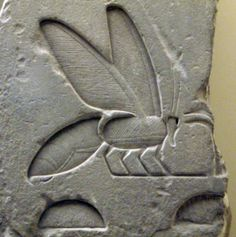 """Bee hieroglyph from the tomb of the pharaoh Senusret I (aka Sesostris I): """"Sedge and Bee."""" Bust of Senusret I located in the Neues Museum, Berlin. As the second pharaoh of the Twelfth Dynasty, he. Ancient Egyptian Art, Ancient History, I Love Bees, Art Sculpture, Bee Art, Save The Bees, Bee Happy, Bees Knees, Ancient Artifacts"""