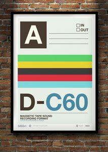 Neil Stevens Cassette Print 01 retro vintage poster illustration graphic design