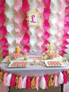 Baby girl 1st Birthday party Birthday Surprise Kids, 1st Birthday Party For Girls, Butterfly Birthday Party, Barbie Birthday, Unicorn Birthday Parties, Paper Party Decorations, Diy Birthday Decorations, Banners, Ideas